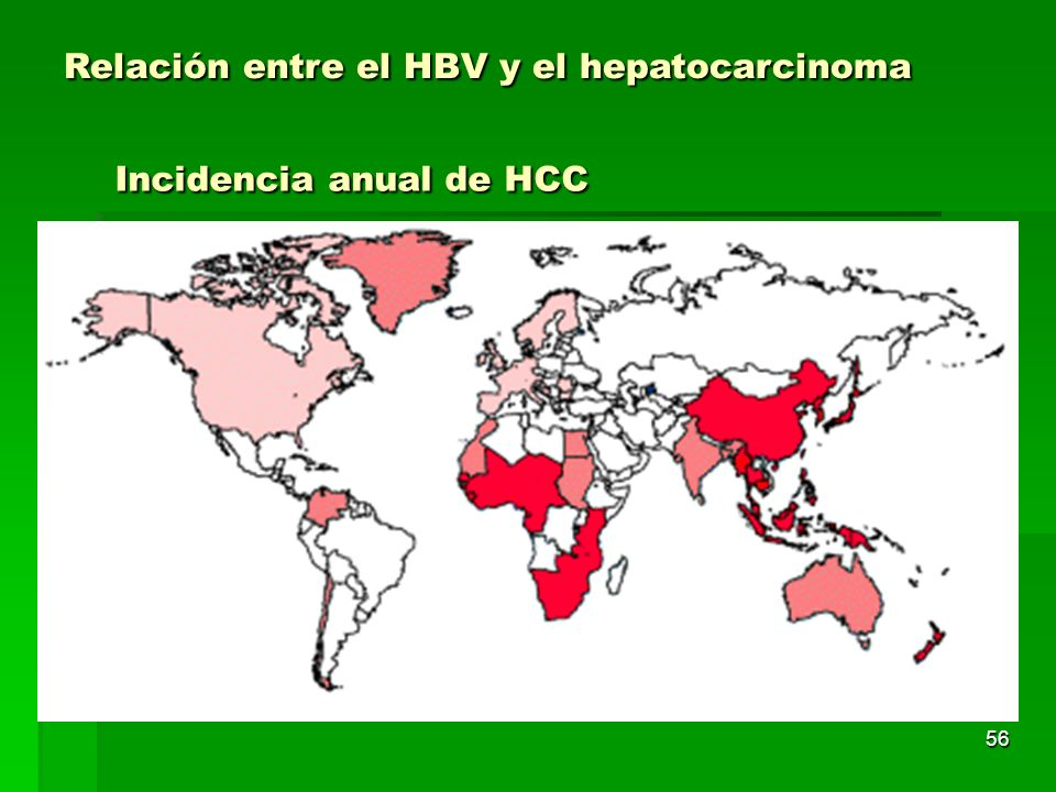 Incidencia anual de HCC