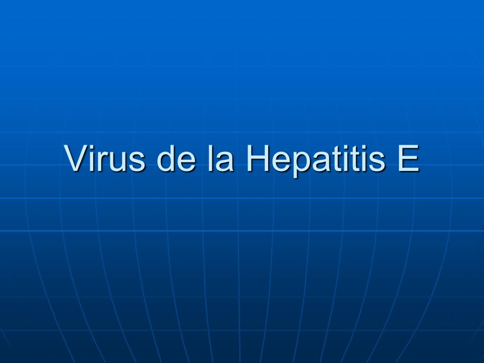 Virus de la Hepatitis E