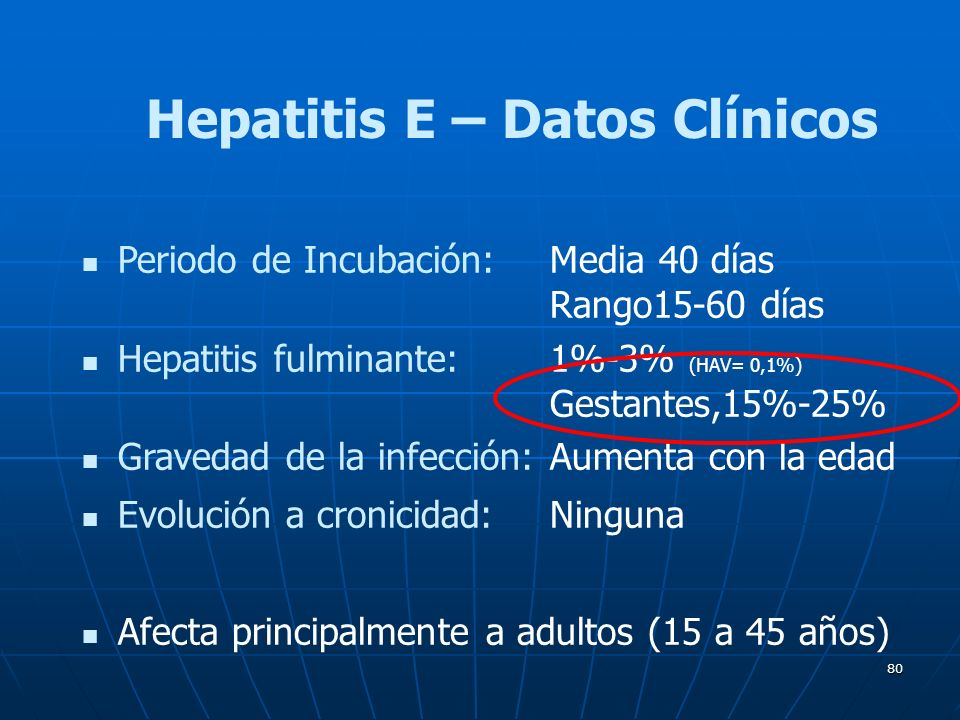 Hepatitis E – Datos Clínicos