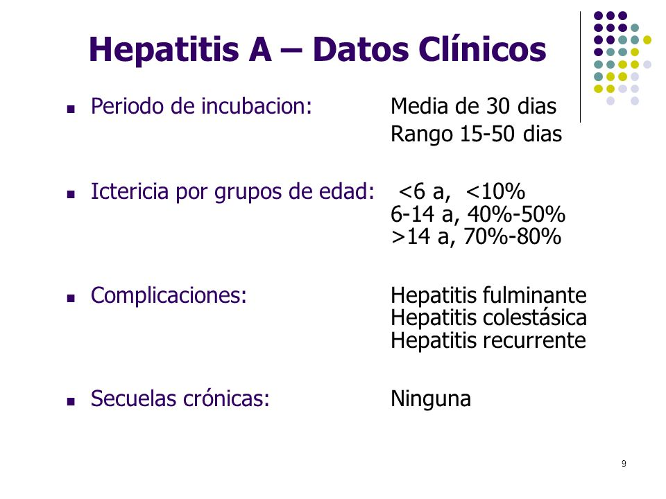 Hepatitis A – Datos Clínicos