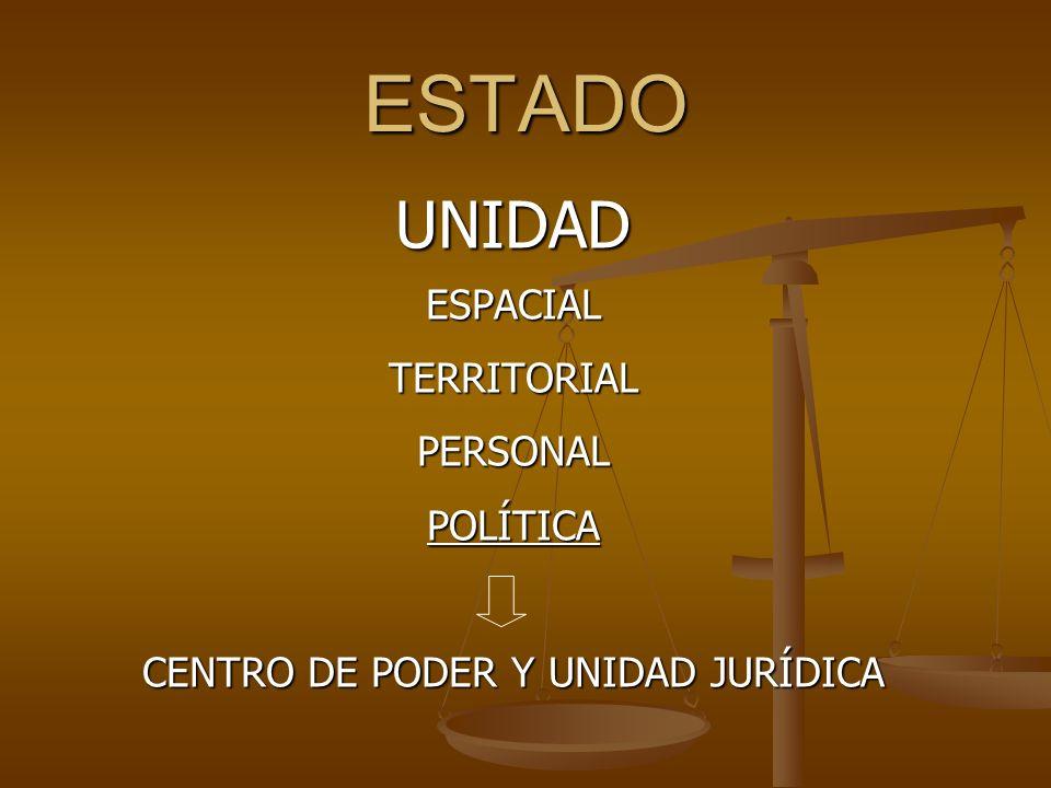 CENTRO DE PODER Y UNIDAD JURÍDICA