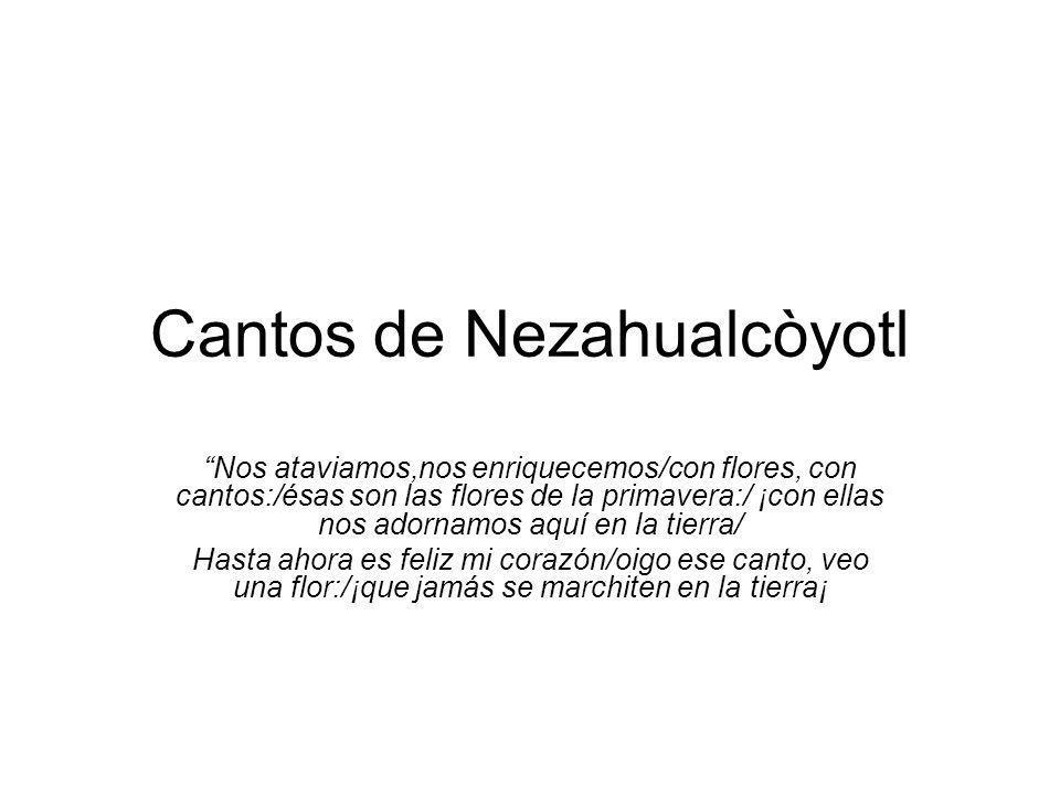 Cantos de Nezahualcòyotl