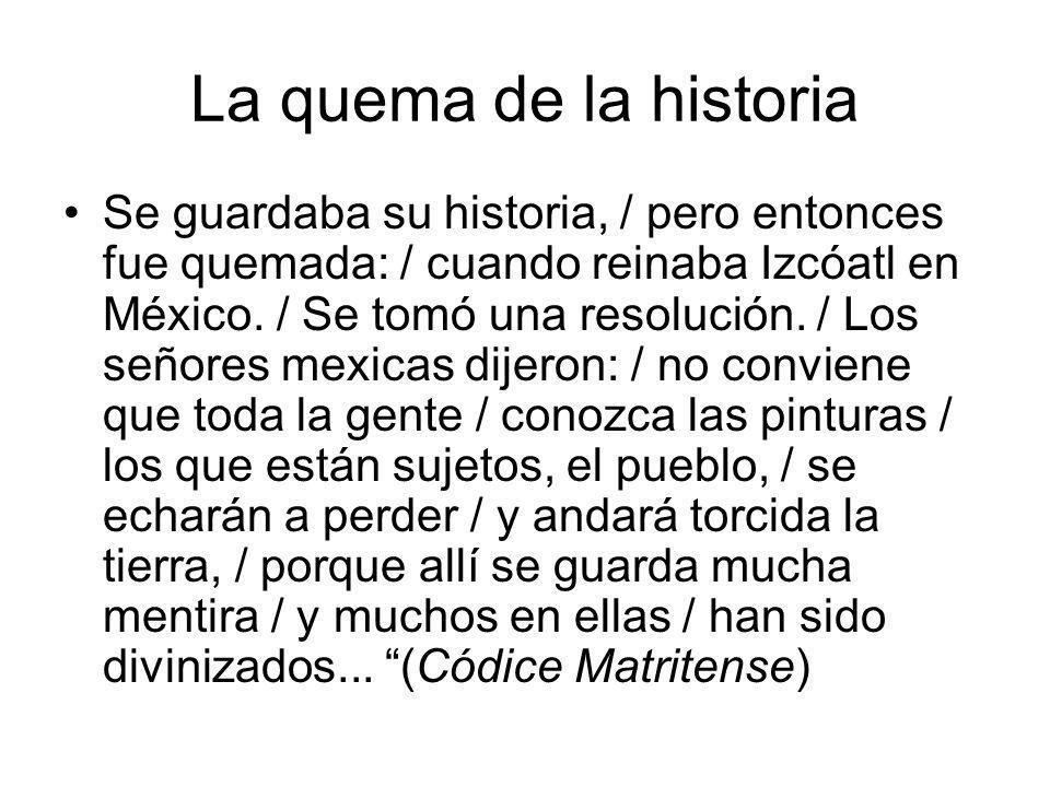 La quema de la historia
