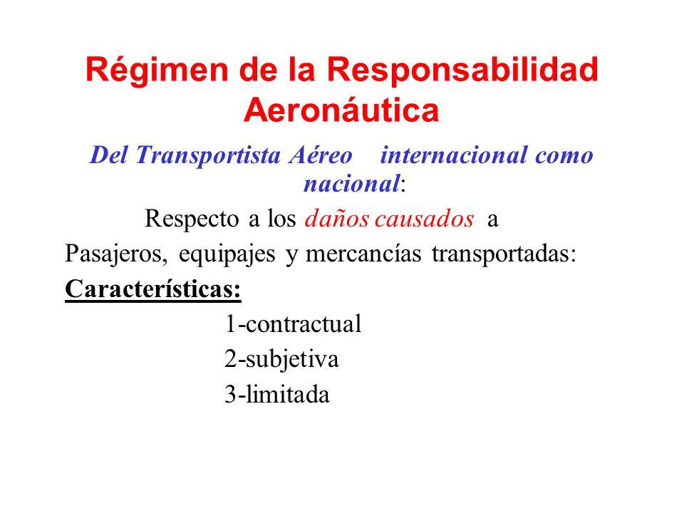 Régimen de la Responsabilidad Aeronáutica