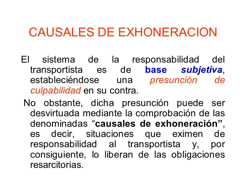 CAUSALES DE EXHONERACION