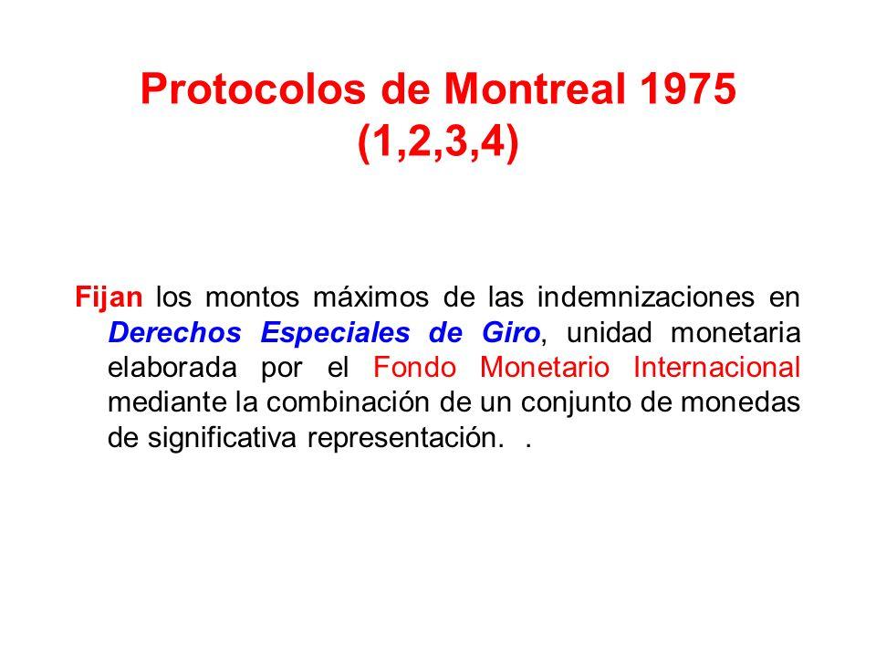 Protocolos de Montreal 1975 (1,2,3,4)