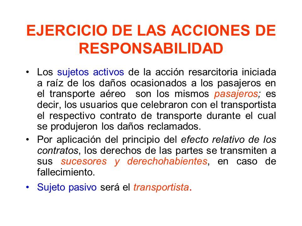 EJERCICIO DE LAS ACCIONES DE RESPONSABILIDAD