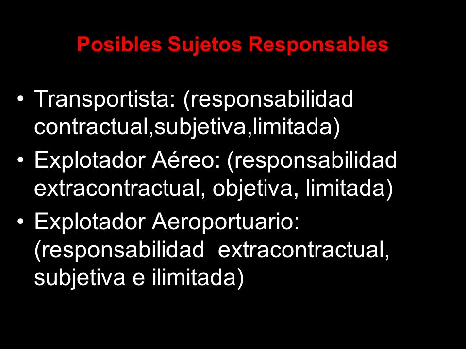 Posibles Sujetos Responsables