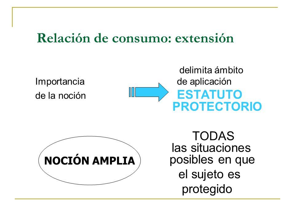 Relación de consumo: extensión