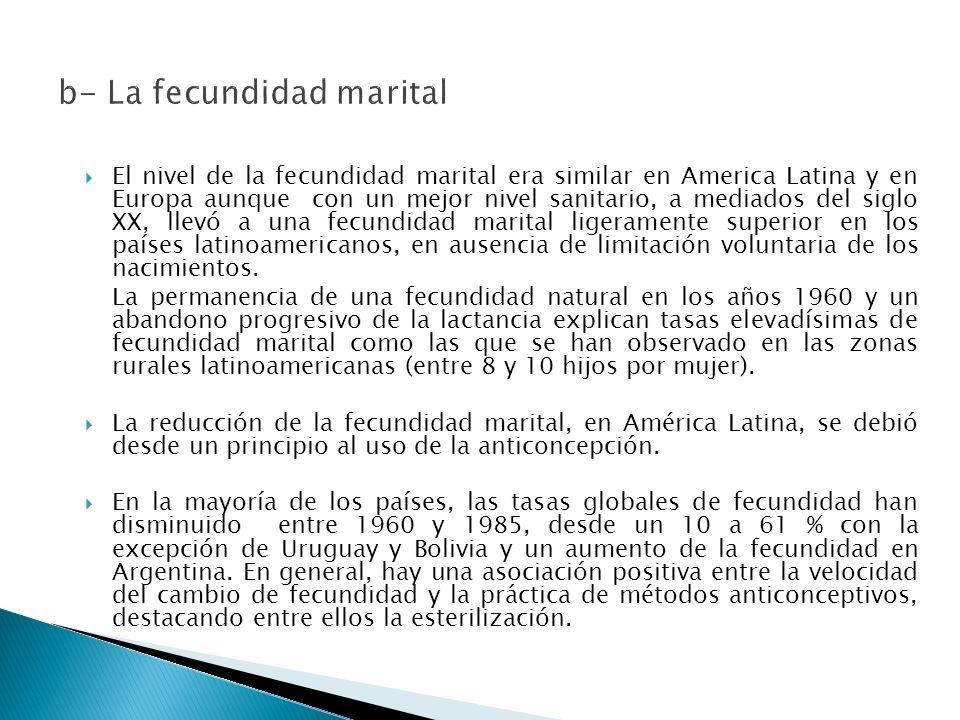 b- La fecundidad marital