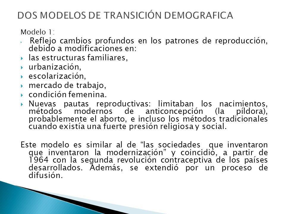 DOS MODELOS DE TRANSICIÓN DEMOGRAFICA