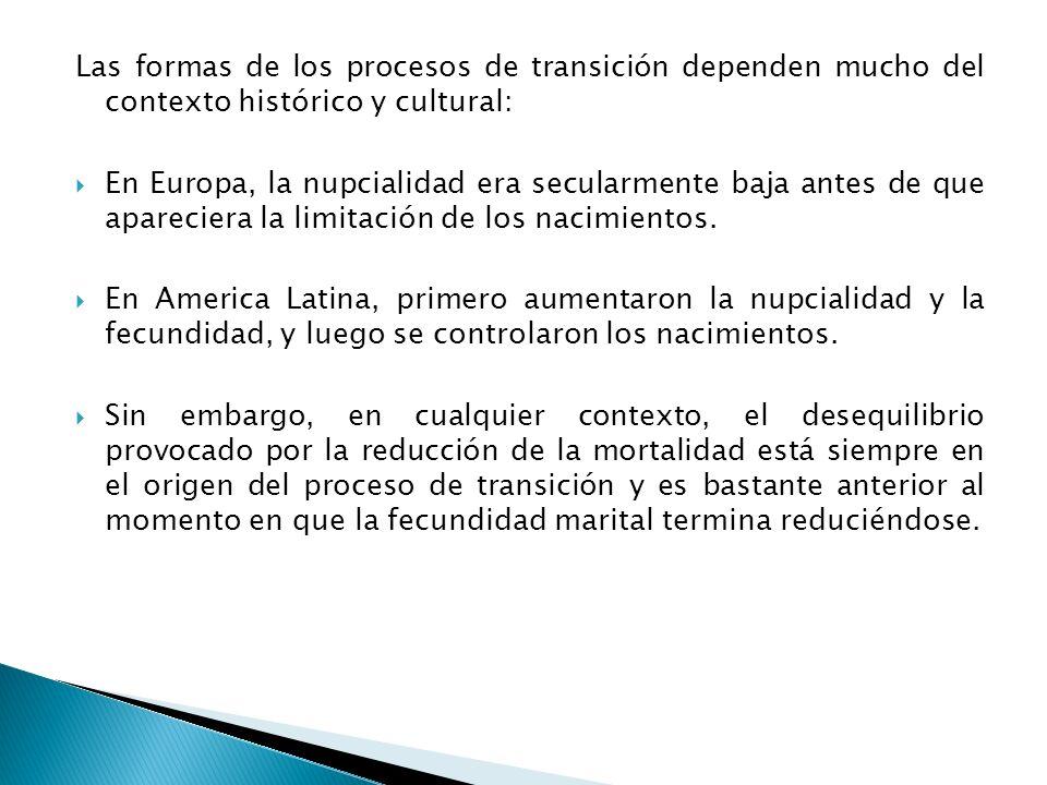 Las formas de los procesos de transición dependen mucho del contexto histórico y cultural: