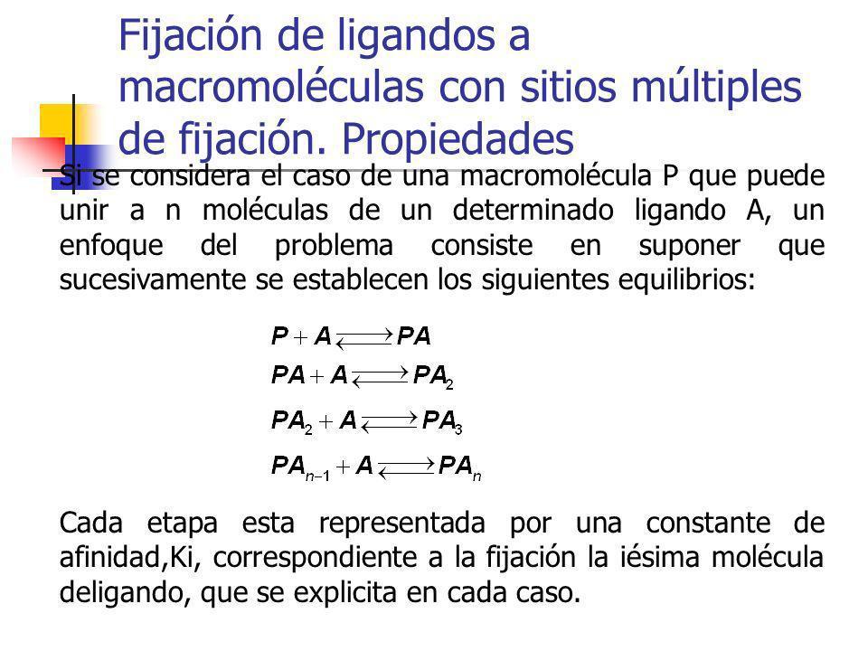 Fijación de ligandos a macromoléculas con sitios múltiples de fijación