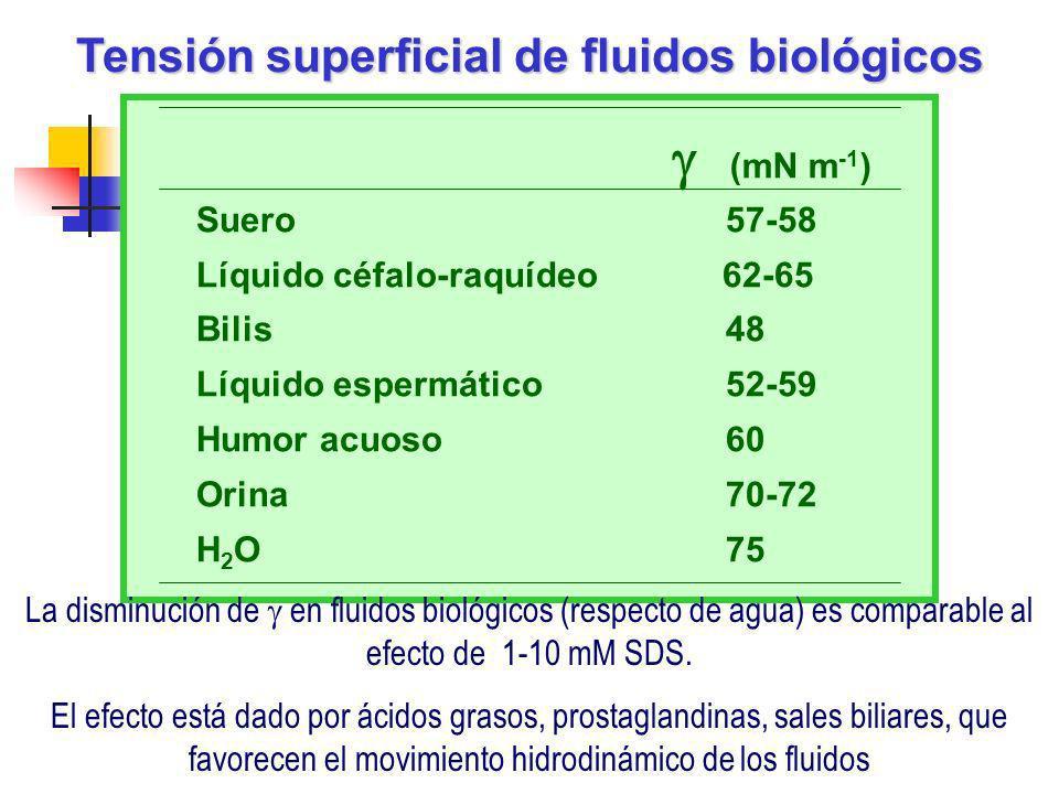 Tensión superficial de fluidos biológicos