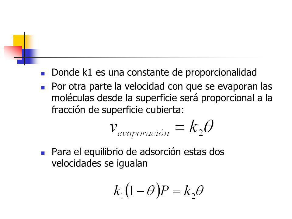 Donde k1 es una constante de proporcionalidad
