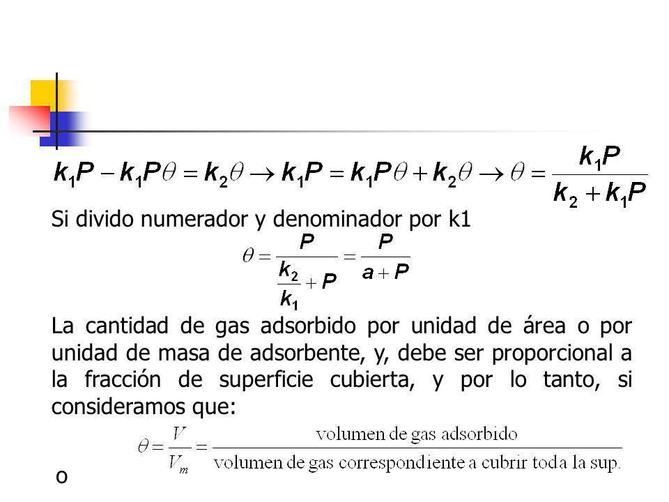 Si divido numerador y denominador por k1