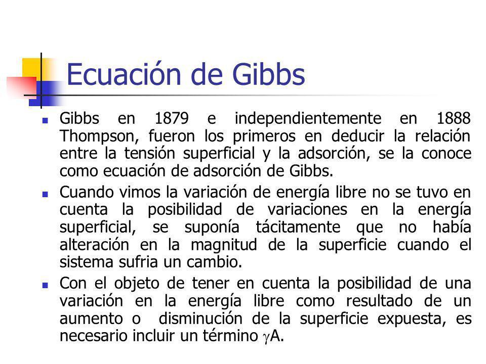 Ecuación de Gibbs