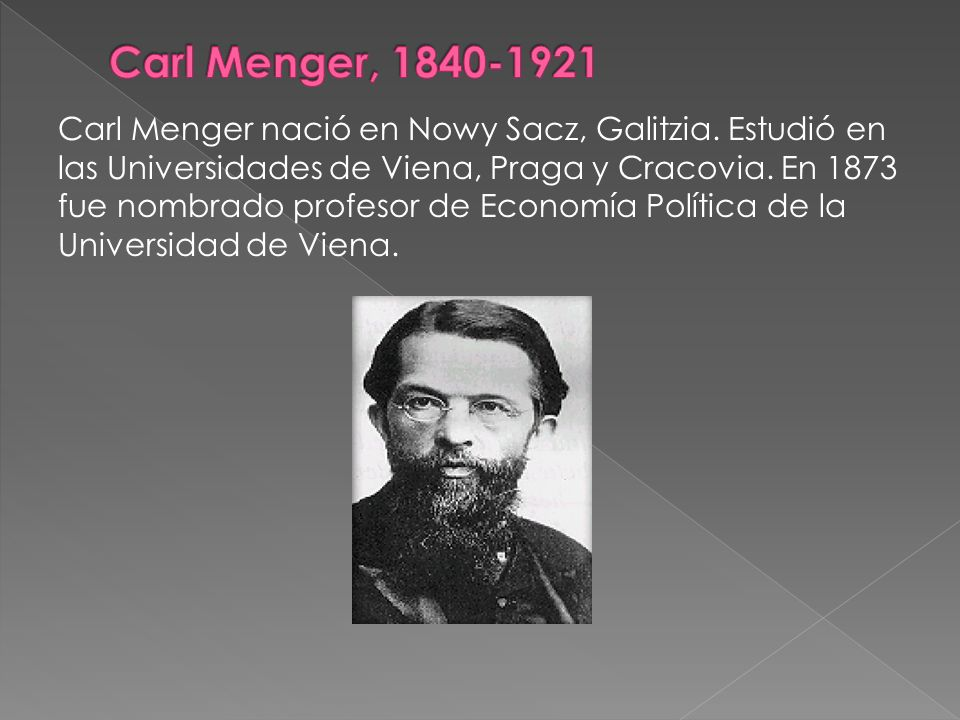 Carl Menger, 1840-1921