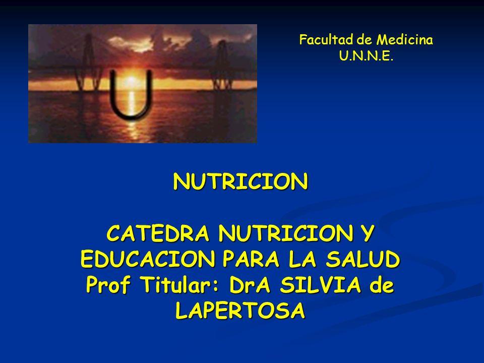 CATEDRA NUTRICION Y EDUCACION PARA LA SALUD