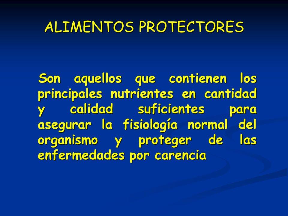 ALIMENTOS PROTECTORES