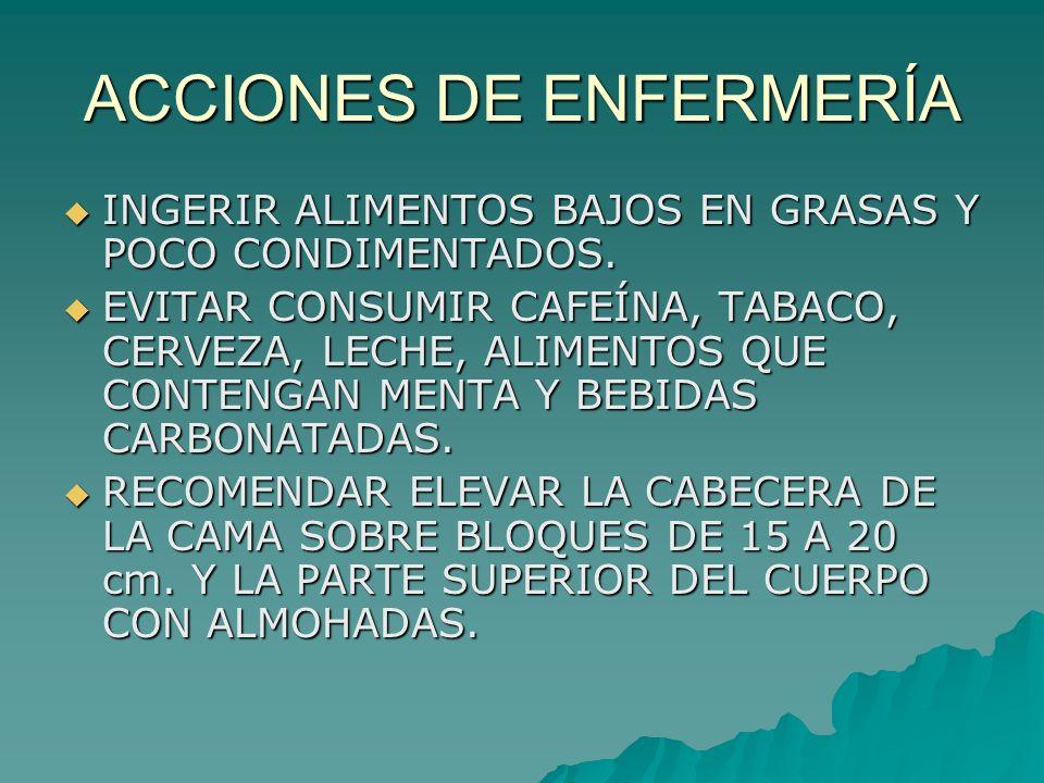 ACCIONES DE ENFERMERÍA