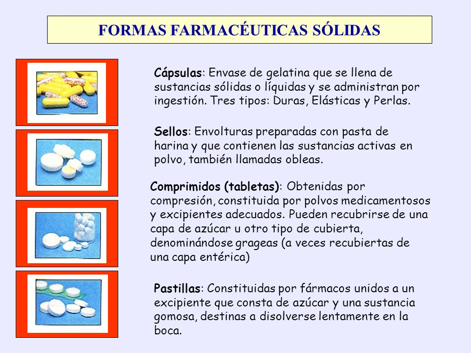 FORMAS FARMACÉUTICAS SÓLIDAS