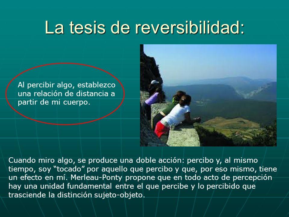 La tesis de reversibilidad: