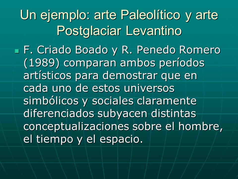 Un ejemplo: arte Paleolítico y arte Postglaciar Levantino