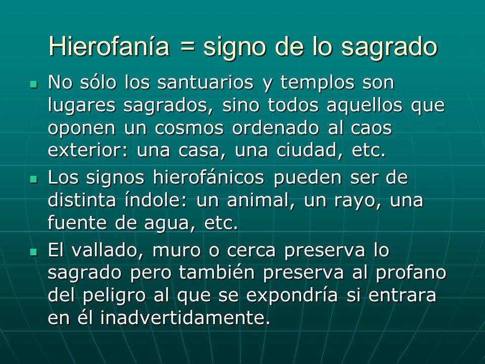 Hierofanía = signo de lo sagrado