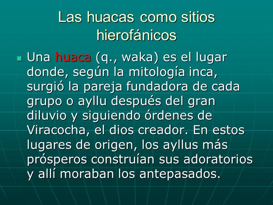 Las huacas como sitios hierofánicos