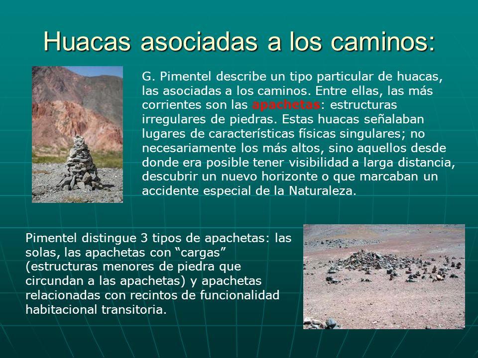 Huacas asociadas a los caminos: