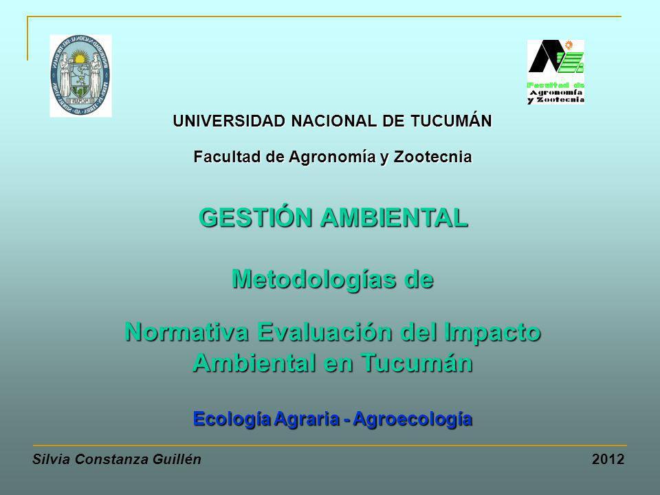Normativa Evaluación del Impacto Ambiental en Tucumán
