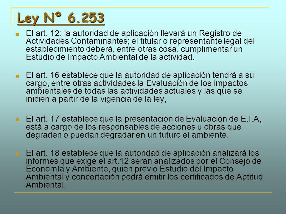 Ley Nº 6.253