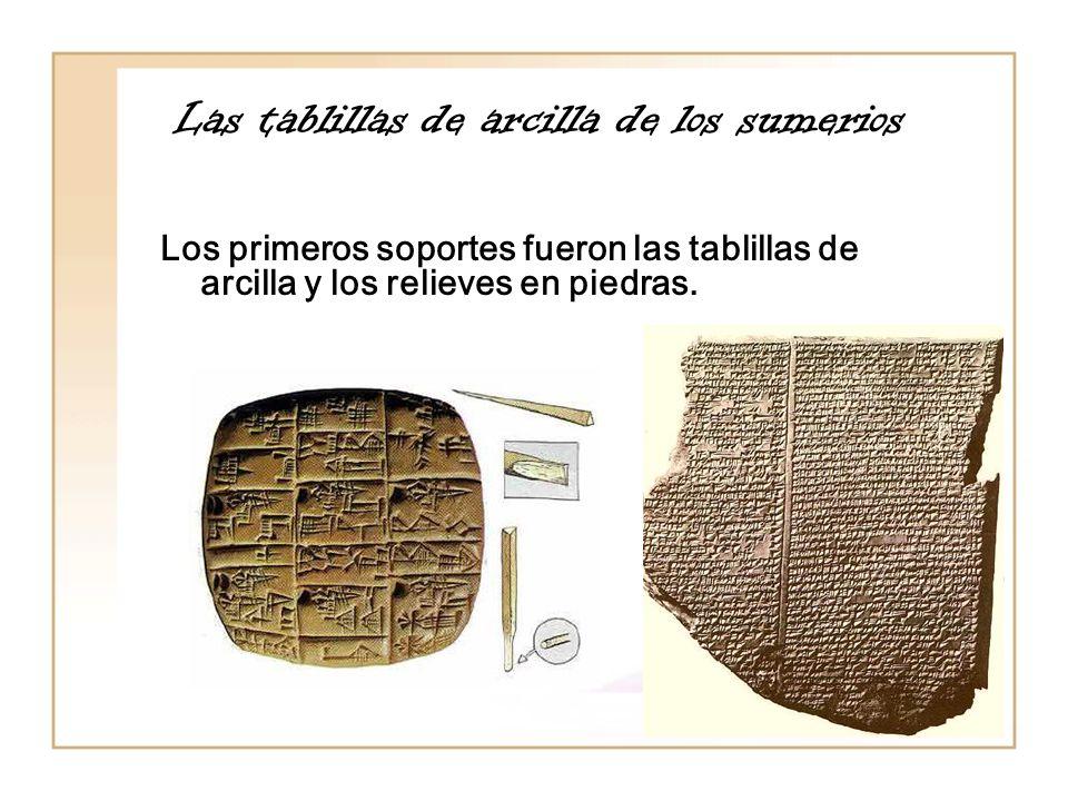 Las tablillas de arcilla de los sumerios