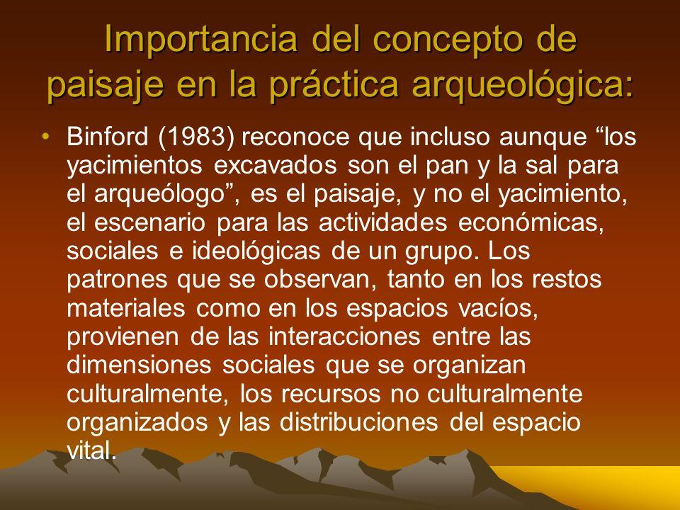 Importancia del concepto de paisaje en la práctica arqueológica: