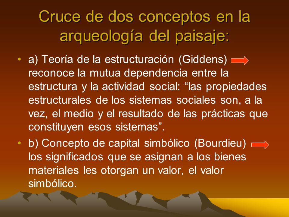 Cruce de dos conceptos en la arqueología del paisaje: