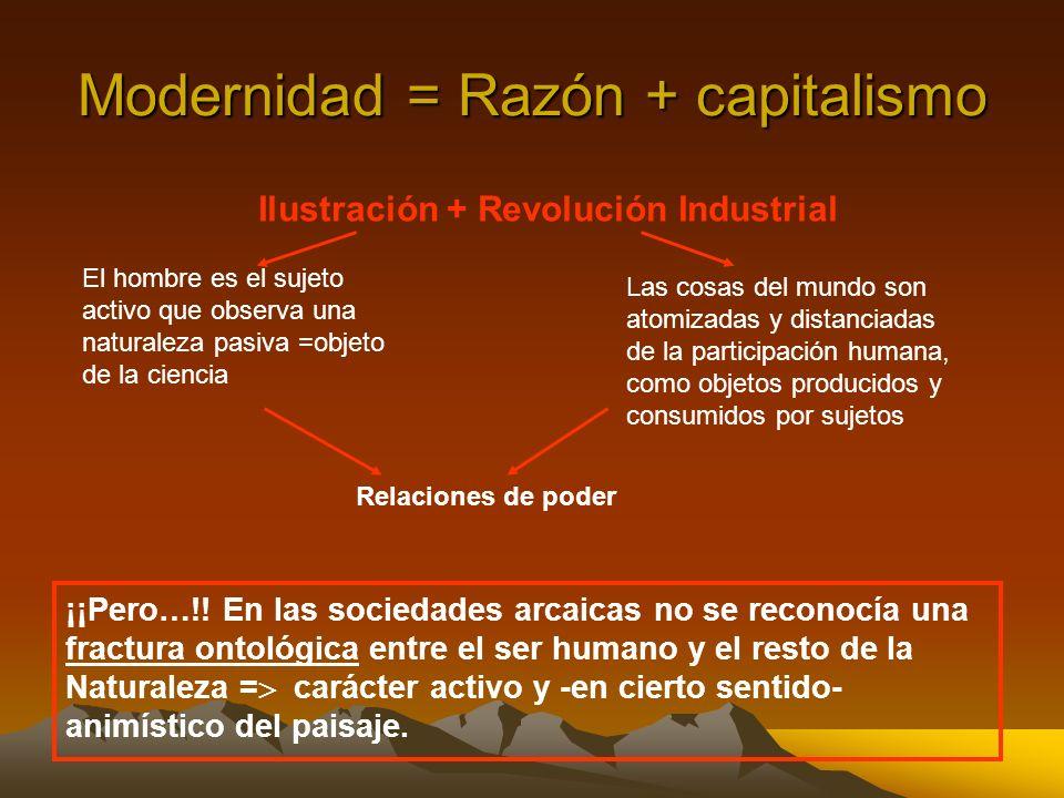 Modernidad = Razón + capitalismo