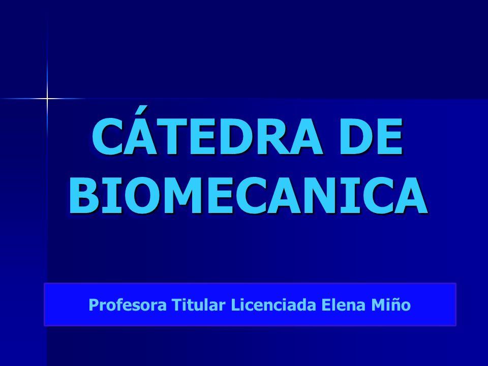 CÁTEDRA DE BIOMECANICA