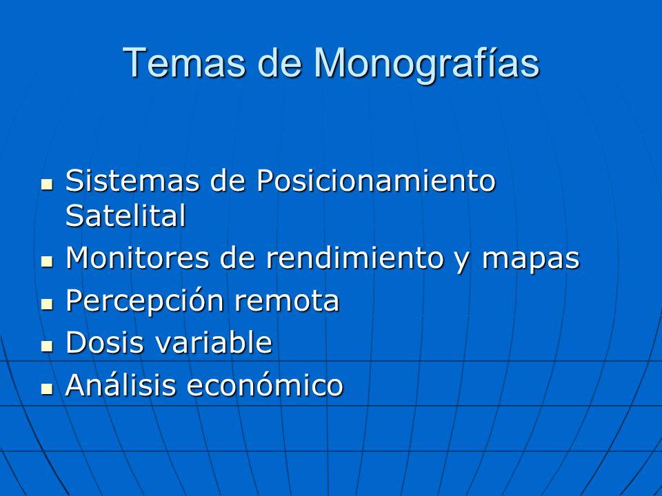 Temas de Monografías Sistemas de Posicionamiento Satelital