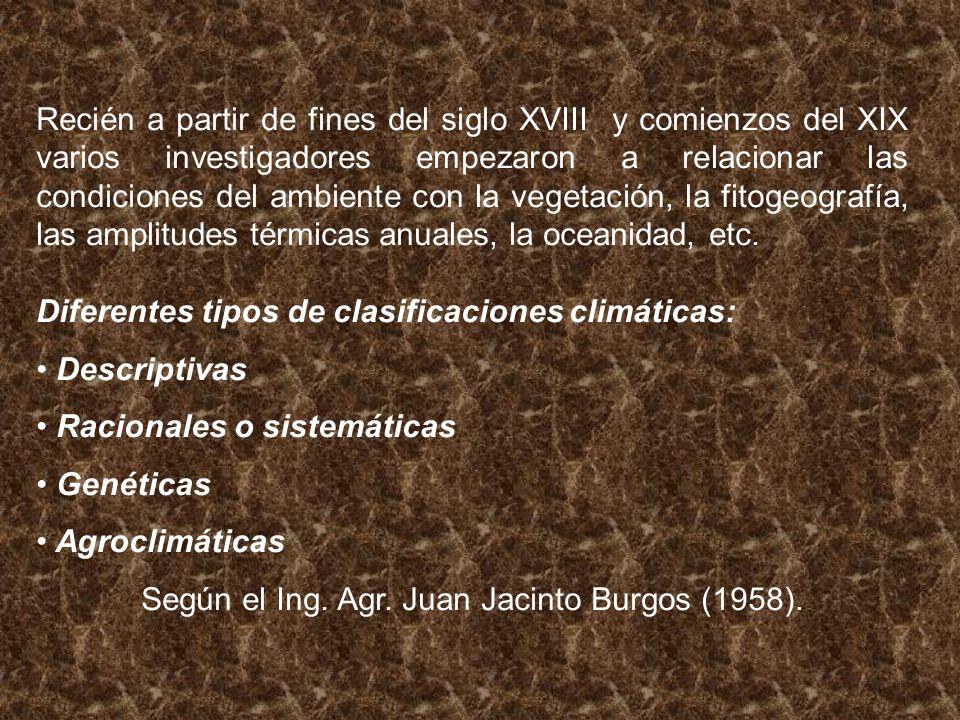 Según el Ing. Agr. Juan Jacinto Burgos (1958).