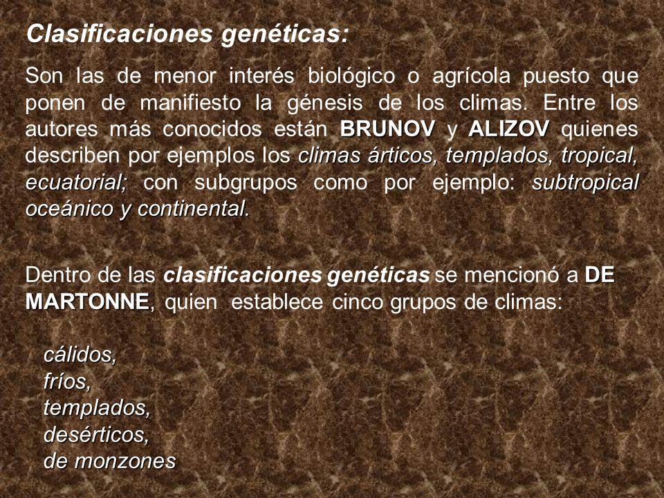 Clasificaciones genéticas: