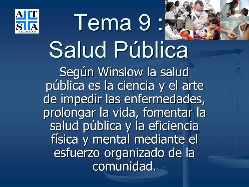 Tema 9 : Salud Pública