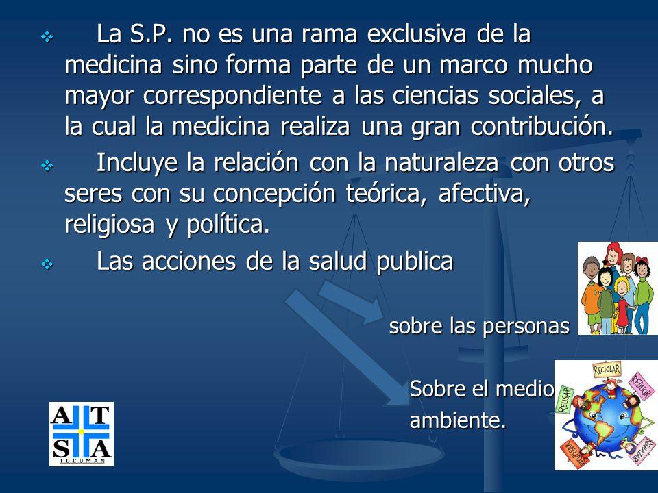 Las acciones de la salud publica