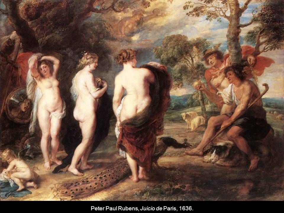 Peter Paul Rubens, Juicio de Paris, 1636.