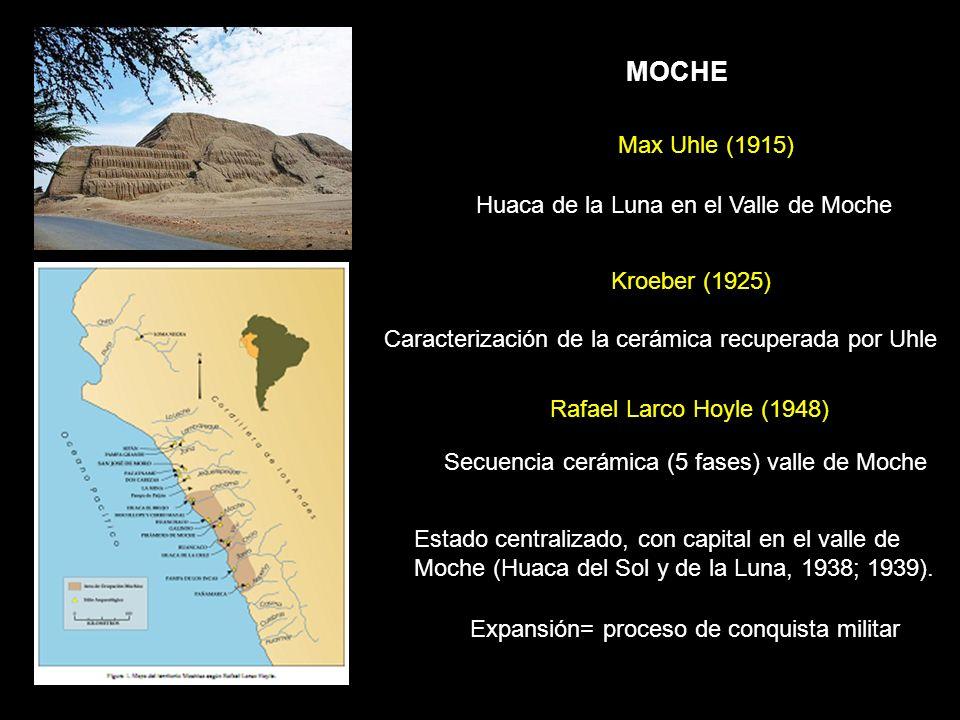 Secuencia cerámica (5 fases) valle de Moche