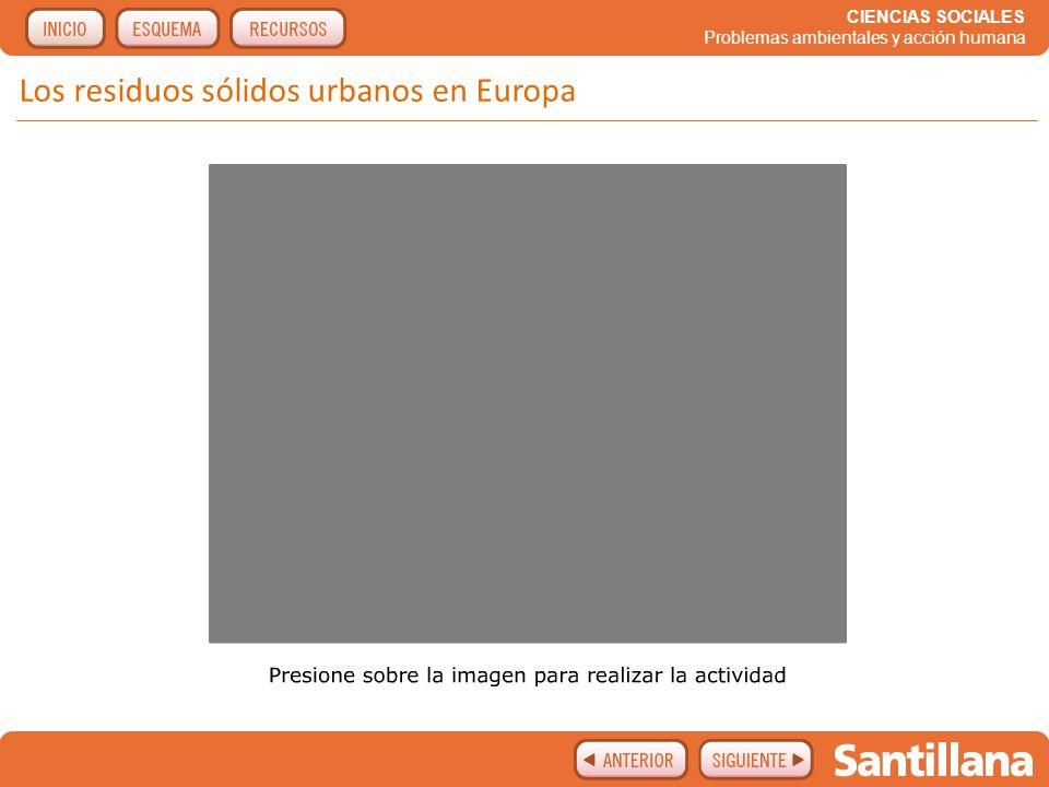 Los residuos sólidos urbanos en Europa