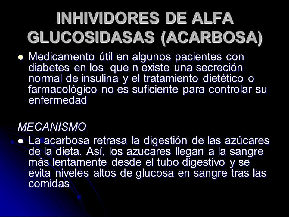 INHIVIDORES DE ALFA GLUCOSIDASAS (ACARBOSA)