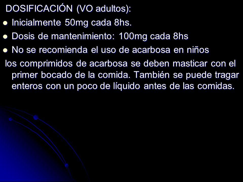 DOSIFICACIÓN (VO adultos):