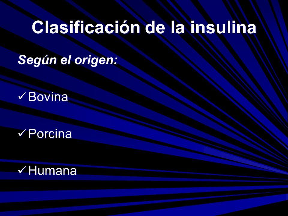 Clasificación de la insulina
