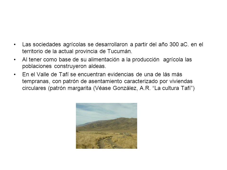 Las sociedades agrícolas se desarrollaron a partir del año 300 aC